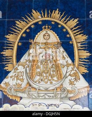 Virgin of the Snow in the church Santuario de Nuestra Senora de las Nieves, Las Nieves, place of pilgrimage, community - Stock Photo