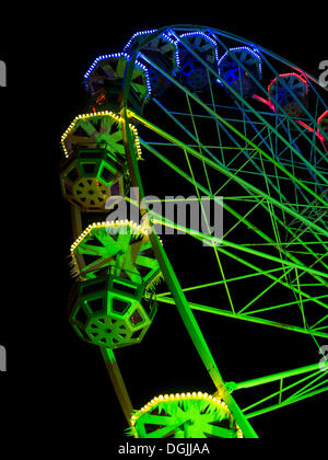 Ferris wheel, Christmas Market in Jena, Thuringia, PublicGround - Stock Photo