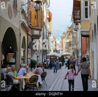 Arched lane in the old town of Merano, South Tyrol, Italy, Europe - Stock Photo