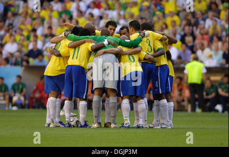 Brazilian national football team Selecao at the World Cup 2006 in Germany - Stock Photo