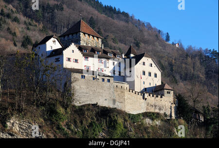 Schloss Liechtenstein castle, Vaduz, Principality of Liechtenstein, Europe - Stock Photo