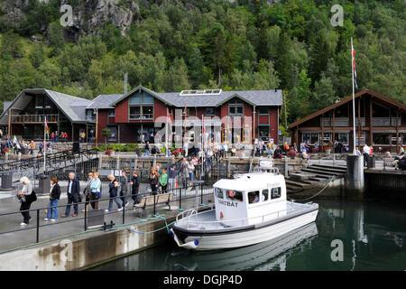 Port of Geiranger, Geiranger Fjord, UNESCO World Heritage Site, Norway, Scandinavia, Northern Europe - Stock Photo