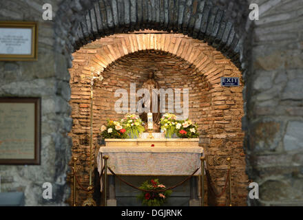 Interior, House of the Virgin Mary, Ephesus, Izmir Province, Turkey - Stock Photo