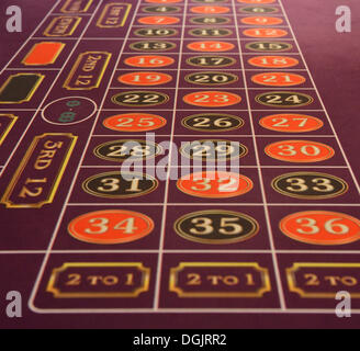 Roulette table, casino - Stock Photo