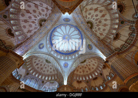 Main dome, Blue Mosque or Sultan Ahmed Mosque, Sultanahmet Camii, UNESCO World Cultural Heritage Site, Istanbul, - Stock Photo