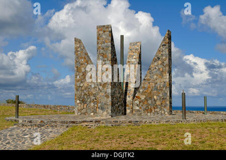 Millennium Monument, sundial in the form of the Latin number MM, 2000, symbolically, Point Udall - Stock Photo
