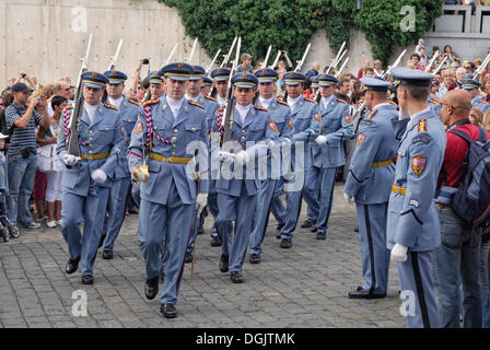 Changing of the Guard at Prague Castle, Hradcany, Castle District, Prague, Czech Republic, Europe - Stock Photo