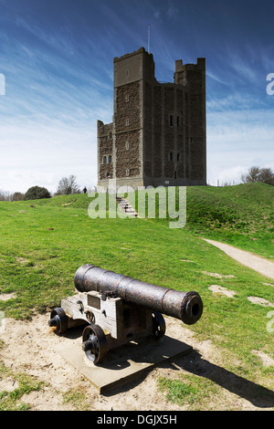 The Keep of Orford Castle in Orford. - Stock Photo