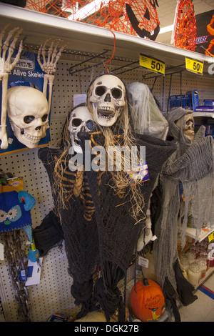 halloween decorations in a variety store brooklyn ny stock photo - Ny Halloween Store