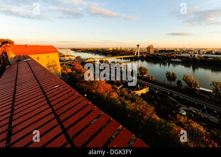 Bratislava, bridge Novi Most, Slovak Republic - Stock Photo