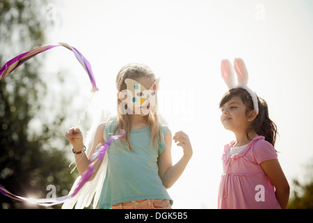 Children in costume play acting - Stock Photo