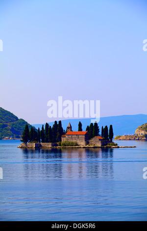 St. George's Island, Kotor Bay, Montenegro - Stock Photo