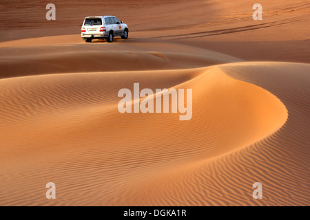 Dune bashing in the Dubai desert. - Stock Photo