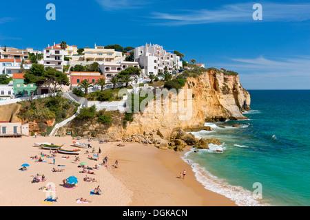 Praia do Carvoeiro; the Algarve; Portugal - Stock Photo