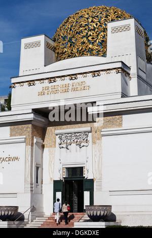 Main entrance of the Secession building in Vienna. - Stock Photo