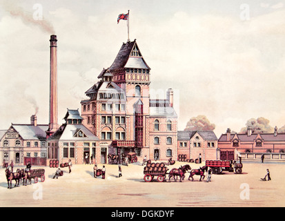 Hook Norton Brewery in Oxfordshire, England. Founded in 1849 and one of the last remaining Victorian breweries remaining - Stock Photo