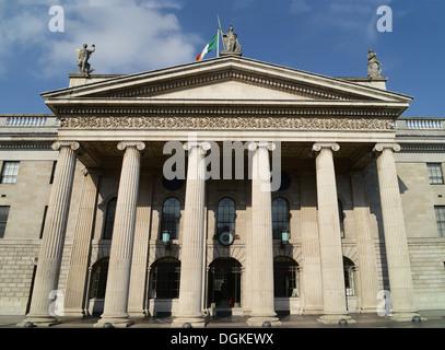 General Post Office (GPO) facade in Dublin, Ireland. - Stock Photo