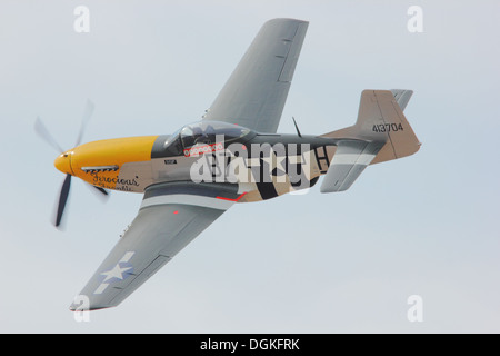 P51 Mustang, Ferocious Frankie, Southport Airshow 2012. - Stock Photo