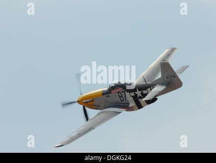 P51 Mustang Ferocious Frankie at Southport Airshow 2012 - Stock Photo
