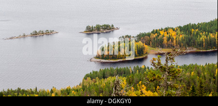 Autumn landscape of lake Pielinen in Finland - Stock Photo
