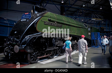 A4 Pacific Class steam locomotive Dwight D Eisenhower at the Great Gathering National Railway Museum. - Stock Photo