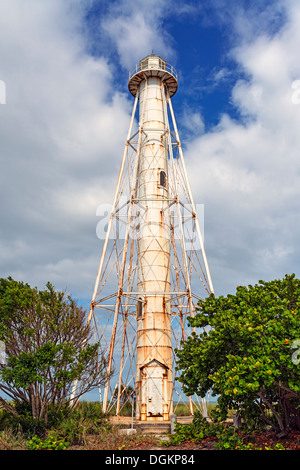 A rangelight at Boca Grande in the  Gasparilla State Park in Florida. - Stock Photo