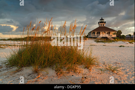 A view up from the beach at Boca Grande on Gasparilla Island in southwest Florida. - Stock Photo