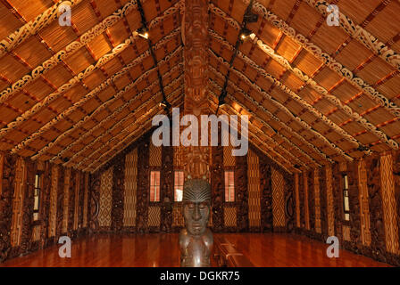 Maori Meeting House, Waitangi Treaty Grounds, Waitangi, North Island, New Zealand - Stock Photo