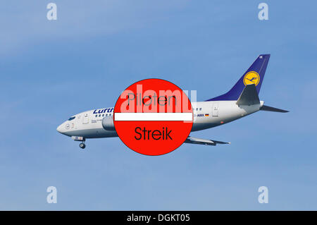 Pilots strike at Lufthansa airlines, industrial action, symbolic image - Stock Photo