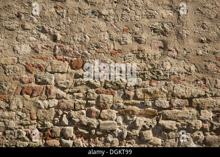 Repaired brick wall, background - Stock Photo