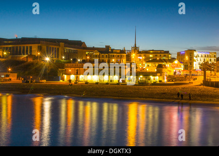 A view of Bournemouth beachfront from the pier. - Stock Photo
