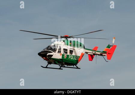 Police Helicopter North RhineWestphalia Eurocopter  BK 117C1 Stock Photo