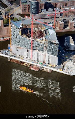 Aerial view, Elbe Philharmonic Hall, Hamburg, Hamburg, Hamburg, Germany - Stock Photo