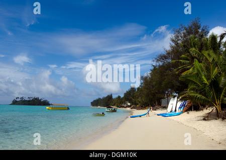 General view of Muri lagoon in Rarotonga Cook Islands