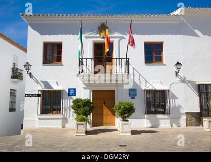 Town hall building Zahara de la Sierra, Cadiz province, Spain - Stock Photo