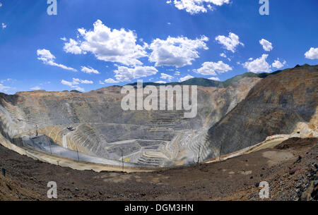 Bingham Canyon Mine or Kennecott Copper Mine, largest man-made open pit on earth, Oquirrh Mountains, Salt Lake City, - Stock Photo