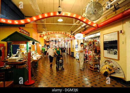 Interior view, shops, Navy Pier amusement center in Chicago, Illinois, United States of America, USA - Stock Photo