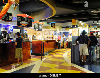 Interior view, fast food, Navy Pier amusement center in Chicago, Illinois, United States of America, USA - Stock Photo