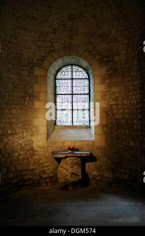 Side altar, basilica Abbey of Saint-Remi, UNESCO World Heritage Site, Reims, Champagne-Ardenne, Marne, France, Europe - Stock Photo