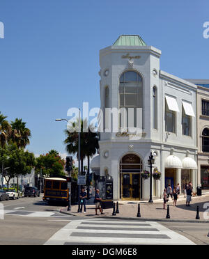 Two Rodeo Drive, Rodeo Drive luxury shopping street, Beverly Hills, Los Angeles, California, United States of America, - Stock Photo
