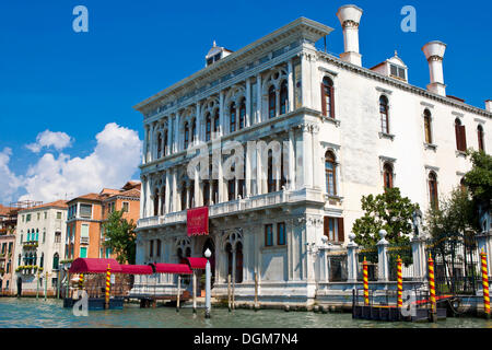 Casino di Venezia on the Grand Canal, Canal Grande, Venice, Italy, Europe - Stock Photo