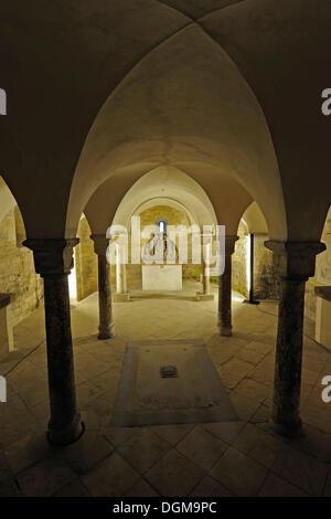 Vault, vestry, St. George's Basilica, Prague Castle, Prague Castle, Castle District, Hradcany, Prague, Bohemia, - Stock Photo