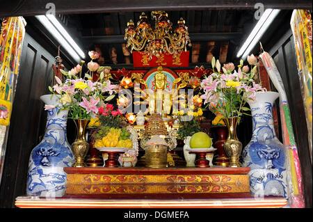 Goddess of Mercy, One Pillar Pagoda, Hanoi, North Vietnam, Vietnam, Southeast Asia, Asia - Stock Photo