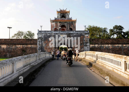 Citadel of the Imperial City in Hue, gate, Hue, North Vietnam, Vietnam, Southeast Asia, Asia - Stock Photo