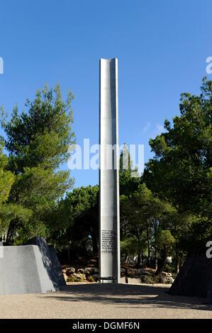 Pillar of Heroism on the grounds of Yad Vashem Holocaust Memorial, Jerusalem, Israel, Middle East, Western Asia, - Stock Photo