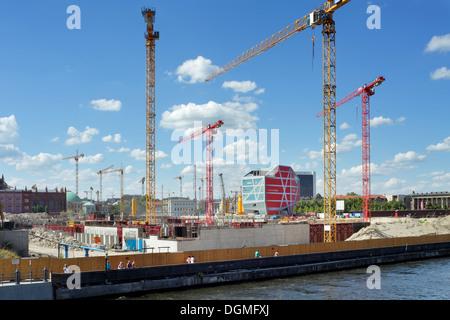 Berlin, Germany, Berlin castle construction Humboldt Forum on the Schlossplatz in Berlin-Mitte - Stock Photo