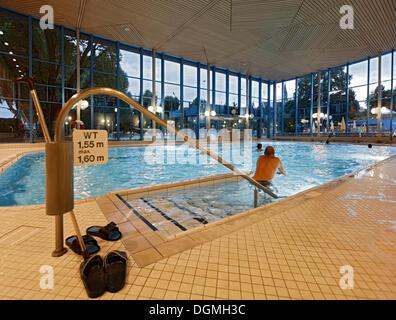 Cold bathing hall of Leuze Mineral Spa Bath in Stuttgart, Baden-Wuerttemberg - Stock Photo