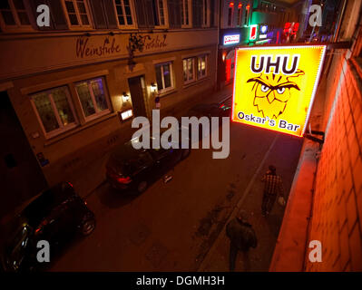 Uhu bar and Laufhaus, a brothel in the red light district in the Leonhardstrasse, Stuttgart, Baden-Wuerttemberg - Stock Photo