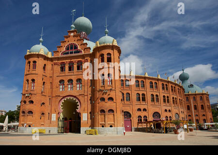 Praça de Touros do Campo Pequeno, bullring, Lisbon, Portugal, Europe - Stock Photo
