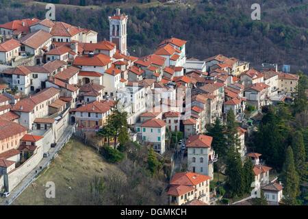Pilgrimage village of Santa Maria del Monte on Sacro Monte di Varese, UNESCO World Cultural Heritage Site, Santa - Stock Photo